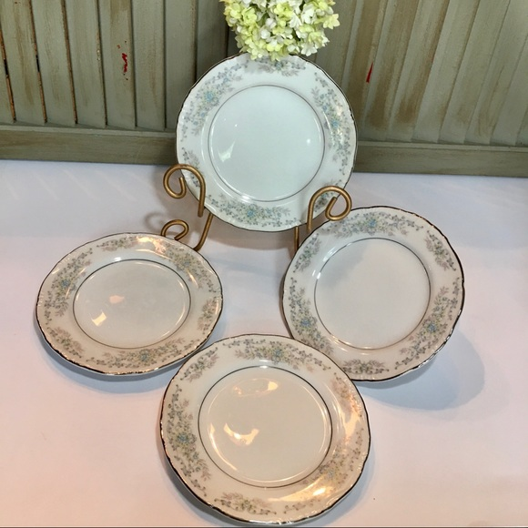 Vintage Other - Norleans Theresa Bread& Butter Plates Set of 4